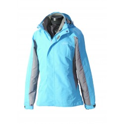 Women 2 in 1 Waterproof Jacket  - EH1205 Blue