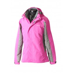 Women 2 in 1 Waterproof Jacket  - EH1205 Pink