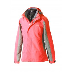 Women 2 in 1 Waterproof Jacket  - EH1205 Red